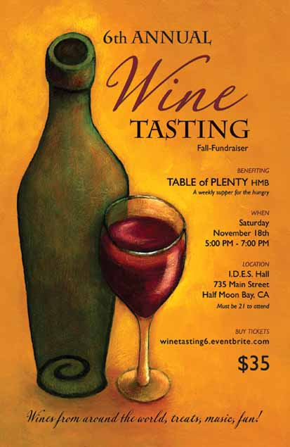 6th Annual WINE TASTING Fundraiser For TABLE Of PLENTY TOP